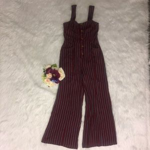 Free People City Girl Striped Jumpsuit 6